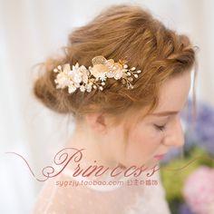 出口歐美簡約新娘發夾珍珠母貝高端手工頭飾結婚飾品-淘寶台灣,萬能的淘寶
