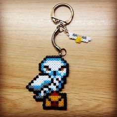 Hedwig keychain - Harry Potter hama perler beads by Hama_geek_world