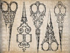antique scissors | Tumblr