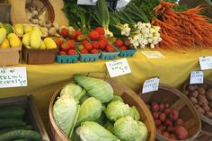 Some delicious produce from the local farmers market in Keene, NH!