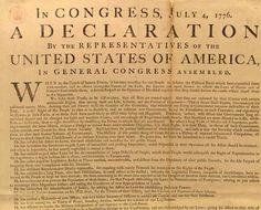 Declaration of Independence Let's All Stand Together One Nation Under GOD
