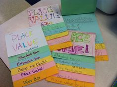 Place Value Flip Chart... Love foldables!