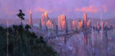 """""""Downtown Jewels"""", 20x40, Oil by Timon Sloane"""