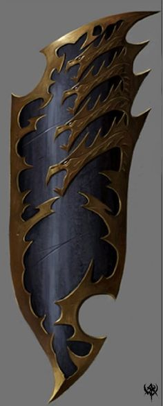 really cool design... and helpful to me if i need a shield reference. warhammer online shield concept art
