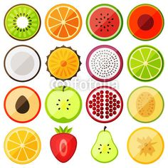 Vector: flat icon fruits
