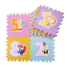 Mother & Kids 10 Pcs Eva Puzzle Mat Pattern Foam Playmat 30*30cm Environmentally Animal Fruit Car Crawling Mat Rug Early Education Baby Gyms & Playmats