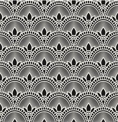 Removable peel and stick wallpaper/ blue deco geometric image 3