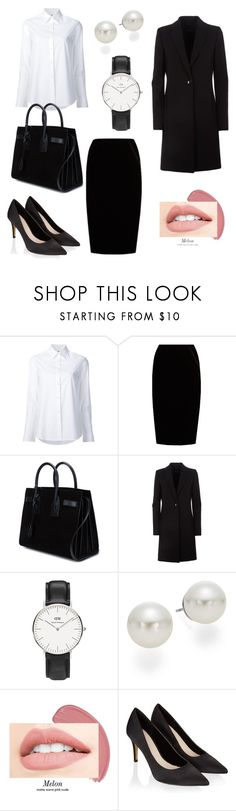 """Classic"" by tancho-cts on Polyvore featuring мода, Misha Nonoo, Jupe By Jackie, Yves Saint Laurent, Daniel Wellington, AK Anne Klein и Monsoon"