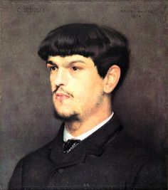 Claude Debussy (1862-1918), painting (1884), by Marcel Baschet (1862-1941).