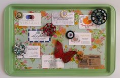 cookie sheet magnetic memo board
