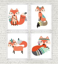 instant download fox fox nursery woodlands by digitalsociety