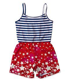 Navy Stripe & Star Romper - Toddler & Girls