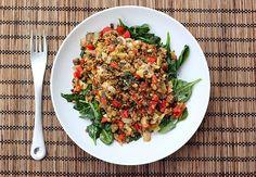 Warm Spring Lentil Salad