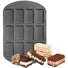 12-Cavity Ice Cream Sandwich Pan - Wilton; Bake delicious brownies or mini cakes, then add ice cream to create the perfect summertime snack.