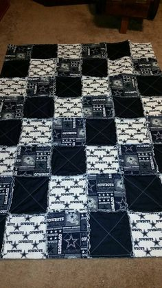 Dallas Cowboys Rag Quilt by MoonlitCountryNights on Etsy