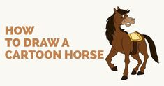 Easy to follow step-by-step tutorial to drawing a Cartoon Horse. Follow the simple instructions and in no time you've created a great looking Horse drawing.