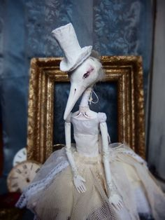 Ooak Doll Blanche by VictoriansRabbit on Etsy