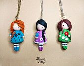 Doll Necklace - Polymer Clay
