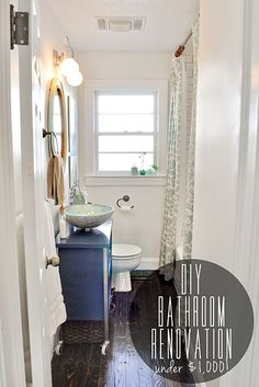 Bathroom Makeover For Under $1000 fixer upper | double vanity, house and bath