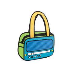 3D Tune Up with Pimpos Cartoon Handbag #WomenBags #ModernArt #summer #nylon