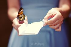 Butterfly release at a wedding is too cute!