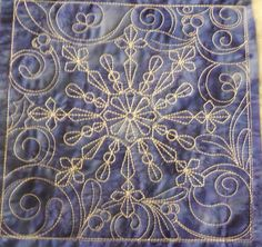Stitch It And Gift It …. It's a Snow Day…. I Love Snow, I Fall In Love, Quilting Designs, Machine Embroidery Designs, Dark Blue Background, Seasons Of The Year, Winter Theme, Pattern Making, Blue Backgrounds