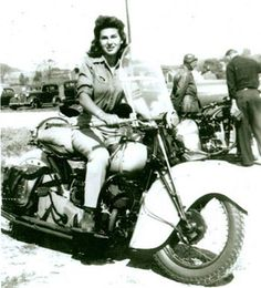 Gloria Tramontin * Gloria was born in the backroom behind her family's motorcycle shop in 1925.  The shop, located in Clifton, New Jersey on Lexington Avenue, was started by her father and mother in 1915.