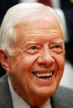 """James Earl """"Jimmy"""" Carter, Jr. (born October 1, 1924) is an American politician who served as the 39th President of the United States (1977–1981) and was the recipient of the 2002 Nobel Peace Prize.  After leaving office, Carter and his wife Rosalynn founded the Carter Center, an organization that works to advance human rights. Carter is a key figure in the Habitat for Humanity project."""