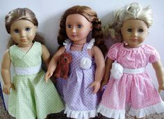 """Free American Girl 18"""" Doll Sewing Pattern and photo tutorial for the """"Flutter Dress""""."""