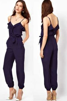 685e3b097e42 rompers womens overalls for women macacao Ruffle Jumpsuit with Belt LC6265  Only You Brand ladies rompers