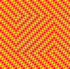 Why does the center of this optical illusion seem to move?