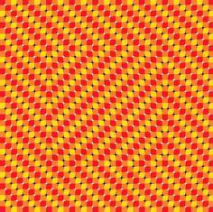 El fondo del cuadrado interior parece moverse.ilusion-optica-cuadro-interior