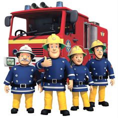Fireman Sam MOVABLE and Reusable Wall, Toy box Stickers
