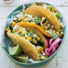 Our farewell to summer. #MeatlessMonday #RecipeOfTheDay: Grilled Corn and Zucchini Tacos: http://wsono.ma/bdJh1