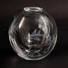 """""""Fishgraal"""" glass vase by Edward Hald for Orrefors N8761"""