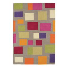 Surya Scion Khaki Indoor Handcrafted Mid-Century Modern Area Rug (Common: 5 X Actual: W X L) Modern Area Rugs, Modern Fabric, Contemporary Rugs, Textile Patterns, Textiles, Rugs Online, Floor Rugs, Bold Colors, Wool Rug