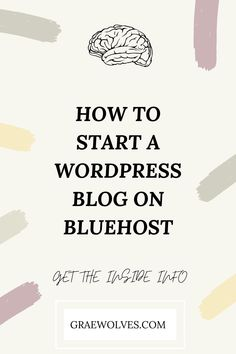 Do you want to jump into the blogging world but not sure where to start? This guide will help you from start to finish in setting up your domain, hosting and WordPress Blog! Creative Business, Business Tips, Online Business, Affiliate Marketing, Social Media Marketing, Creating A Blog, Plugs, Entrepreneur, Wordpress