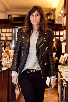 At Alexandra Shulman's book signing in Paris, September 25.
