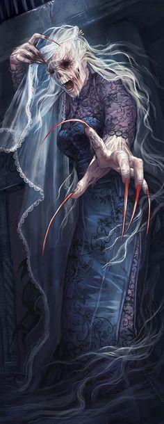 Nocnitsa - Interior illustration for Shadowrun's monster book, Howling Shadows, by Alyssa Menold