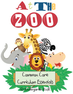 At the Zoo Unit: Thematic Common Core Curricular Essentials Kindergarten Classroom, Classroom Themes, School Themes, Teacher Education, Teacher Websites, Special Education, Zoo Phonics, Zoo Activities, Preschool Lessons