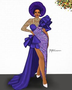 Nigerian Lace Styles Dress, African Lace Dresses, Latest African Fashion Dresses, African Inspired Fashion, African Print Fashion, Ankara Dress Designs, African Attire, African Wear, Dress Design Sketches