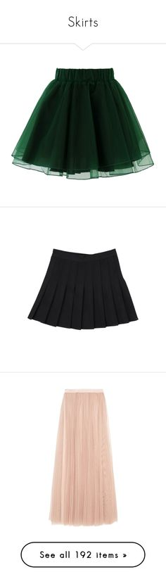 """Skirts"" by lostinthecosmics ❤ liked on Polyvore featuring skirts, bottoms, green, faldas, tulle tutu, green tulle skirt, tulle mini skirt, tulle tutu skirt, green tutu skirt and stripe skirt"