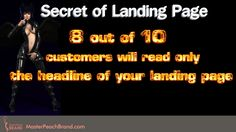 Good Headline is the Key Success Factor for the Landing page. Click on Visit to read more...