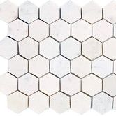 "Found it at Wayfair - 2"" x 2"" Marble Hexagon Polished Mosaic in White Carrara"