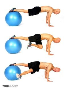 The 14 Best Ab Exercises - Stability Ball Grasshopper