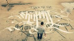 "Streetart: Urban Calligraphy ""Skyfall"" by Simon Silaidis (Clip)"