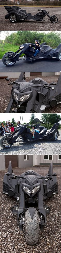 These 5 Images Show What Happens When Batmobile Meets The Tumbler and a 3-Wheeled Trike Motorcycle