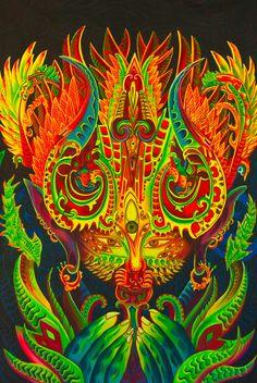 Esprit de l'ayahuasca UV peinture la main sur par ImZauberwald