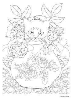 Chat Thrapie 100 Coloriages Anti Stress Amazonde Vincent Jaunatre Adult ColoringColoring PagesColoring BooksEmbroidery