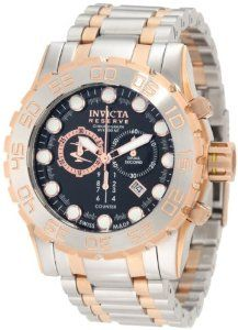 Invicta Men's 0818 Reserve Chronograph Black Dial Stainless Steel Watch